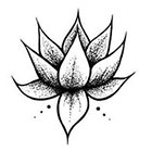 JoellesEmporium Lotus Flower Temporary Tattoo, Ethnic Art, Spiritual Art, Small Temporary Tattoo, Tattoo Temporary, Black, Lotus Flower Tattoo, Gift Ideas