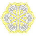 myTaT Gold Mandala Tattoo, Metallic Tattoo, Gold & Silver Mandala Temporary Tattoo - (Set of 2)