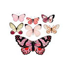 The Fickle Tattoo Vintage Pink Butterfly Temporary Tattoos -