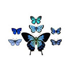 The Fickle Tattoo Vintage Butterfly Temporary Tattoos -