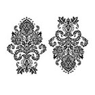 The Fickle Tattoo Victorian Damask Temporary Tattoo -