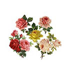 The Fickle Tattoo Vintage Rose Temporary Tattoos -