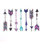 happytatts arrow tattoos, valentine tattoos, bohemian arrow temporary tattoos, 7 colorful boho fake tattoos colorful tats, happytatts