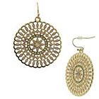 Target Pink Women's Dangle Earrings with Glass Stones - Gold and Pink