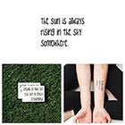 Tattify Sunny Side Up - Temporary Tattoo (Set of 2)