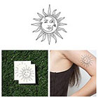 Tattify Sol Y Luna - Temporary Tattoo (Set of 2)