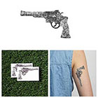 Tattify Gunz 'n Roses - Temporary Tattoo (Set of 2)
