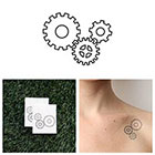 Tattify Grinds My Gears - Temporary Tattoo (Set of 2)