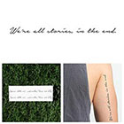 Tattify Trenzalore - Temporary Tattoo (Set of 2)