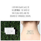 Tattify Half Full - Temporary Tattoo (Set of 2)