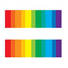 myTaT Gay Pride Tattoo, Equality Bar Tattoo, LGBT Temporary Tattoo, Rainbow Temporary Tattoo (Set of 2)