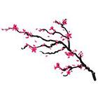 myTaT Cherry Blossom Tattoo, Pink Flower Tattoo, Festival Temporary Tattoo (Set of 2)