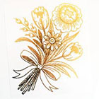 Tattoo You Gold Bouquet Flower Metallic Temporary Tattoo, Tattoo by Myra Oh