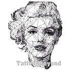 TattooNbeyond Temporary Tattoo - Geometric Drawing / Monroe / Einstein