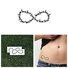 Tattify Love They Say - Temporary Tattoo (Set of 2)