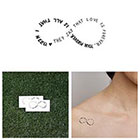 Tattify Ever Thine, Ever Mine - Temporary Tattoo (Set of 2)