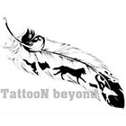 TattooNbeyond Temporary Tattoo - 4 types of Feathers 1/4 sheet
