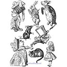 TattooNbeyond Temporary Tattoo - Alice in Wonderland Set / Alice / White Rabbit