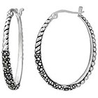 Target Marcasite Rope Oval Earring - Silver
