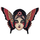 Tattoo You Butterfly Girl Temporary Tattoo by Jon Garber.