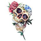 TattooNbeyond Temporary Tattoo - Flower Skulls - Choose your pattern