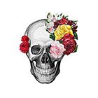 TattooNbeyond Temporary Tattoo - Flower Skulls - Choose your pattern