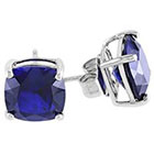 Allura 6 CT. T.W. Created Sapphire Solitaire Stud Earrings in Sterling Silver - Blue