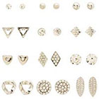 Charlotte Russe Mixed Stud Earrings - 12 Pack