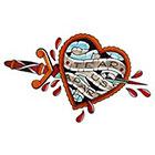 Tattoo You Dagger Heart temporary tattoo by Dan Smith.