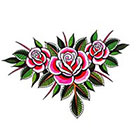 Tattoo You Rose Chain Temporary Tattoo by Dan Smith.