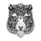 TattooNbeyond Temporary Tattoo - Tiger or Bison in