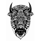 TattooNbeyond Temporary Tattoo - Tiger or Bison