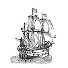 Ombeyond TEMPORARY TATTOO - Set of 7 Nautical Tattoos or 2.75