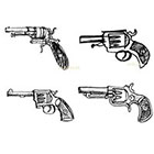 Ombeyond TEMPORARY TATTOO - Set of 15 Arrows,Guns& Infinity , Set of 6 Guns OR Set of 4 Guns