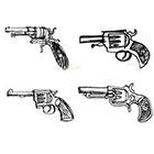 Ombeyond TEMPORARY TATTOO - Set of 15 Arrows,Guns& Infinity , Set of 6 Guns OR Set of 4 Guns