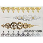InknArt NEW Metallic Gold Silver Jewel Bracelet Lace Tattoo - InknArt Temporary Tattoo - wrist quote body sticker fake wedding