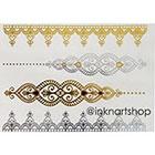 InknArt NEW Metallic Gold Silver Jewel Bracelet Lace Tattoo - InknArt Temporary Tattoo - wrist quote body sticker fake wedding