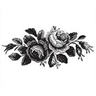 Ombeyond Temporary Tattoo - Black or Blue / 2 Sizes Vintage Roses