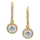 Journee Collection 1 4/5 CT. T.W. Round Cut CZ Basket Set Dangle Earrings in Brass - Gold