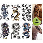 Amazon.com Supperb Mix Dragons Temporary Tattoo / 6-pack