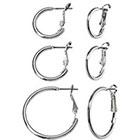 Target Hoop Earring Trio - Silver