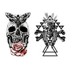 Tattoo LifeStyle Sets skulls temporary tattoos