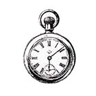 Soma Art Tattoo Pocket Watch Temporary Tattoo - SomaArtTattoo Temporary Tattoo - wrist quote tattoo body sticker fake tattoo wedding tattoo small tattoo