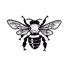 Soma Art Tattoo Bumble Bee Temporary Tattoo - SomaArtTattoo Temporary Tattoo - wrist quote tattoo body sticker fake tattoo wedding tattoo small tattoo