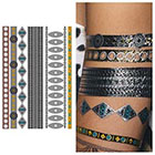 Tattify Silver Copper Metallic Temporary Tattoo (1 Sheet) - Bali