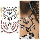 Tattify Metallic Necklace Temporary Tattoo - 1 x A5 Sheet