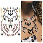 Tattify Metallic Necklace Temporary Tattoo - 1 x A5 Sheet