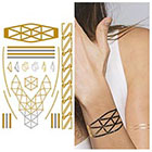 Tattify Metallic Gold Wristband Temporary Tattoo - 1 x A5 Sheet