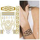 Tattify Metallic Gold Wristband Temporary Tattoo - 1 x A5 Sheet