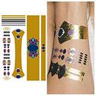 Tattify Metallic Gold Jewels Temporary Tattoo (1 Sheet) - The Crown Jewels